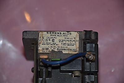 Siemens-Allis CXL20*3 Size 2 3-Pole 120 v coil With Overload Unit