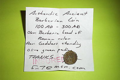 RARE Ancient BARBARIAN COIN barbaric Roman treasure old antique artifact VF fn7