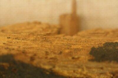 Antique Ancient Egyptian Painted Saite Period 800-400 B.C. Wooden Fragment 6
