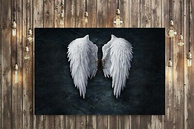 FALLEN BROKEN ANGEL WINGS STREET ART FRAMED POSTER PICTURE PRINT BANKSY WHITE