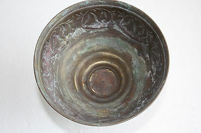 Antique Islamic Copper Bowl Planter Footed Not Cleaned As Found Home Decor Rare 5