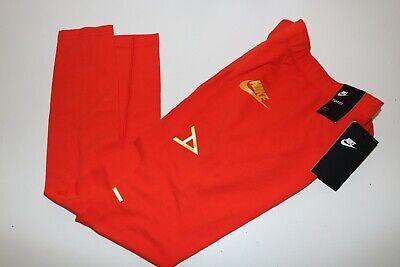 Nike Air Sport Metallic Cotton Leggings Girls - Red Aq9176-634 - M / 10-12 Years 4