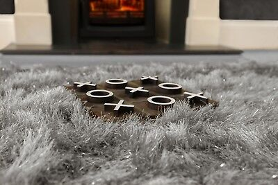 Modern Large Extra Thick 9cm High Pile SHAGGY Floor RUG with SPARKLE SHIMMER 12
