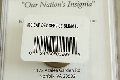Usmc Us Marine Corps Black Chin Strap And Badge Set For Enlisted Combination Cap