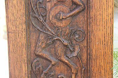 Vintage French Carved Oak Satyr/Bacchant Panels 6