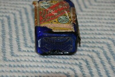Alte Flasche - Antike Flasche - kobaltblau - Etikett 5