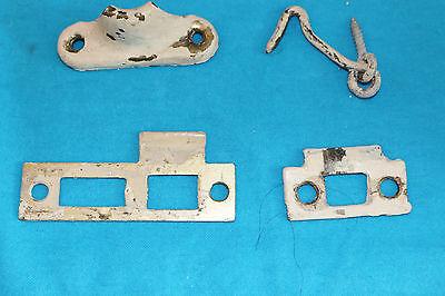 Vintage Lot Door Hinges, Drawer Handles, Window Locks, Etc 6