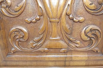 French Antique Pair Carved Wood Cupboard Door Panel Gothic Chimera Griffins 5