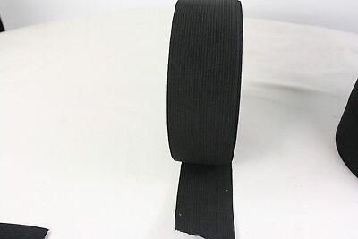 1 METER Gummiband ca.25/30 40/50/60 mm breit schwarz , mittelstarker Zug 4