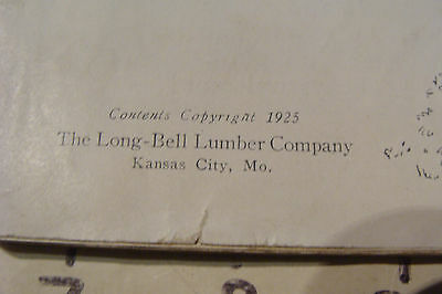 1925 THE BOOK OF LAWN FURNITURE--Long Bell lumber--CATALOG, 36pgs STAINED 3