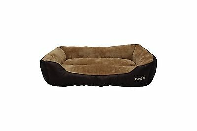 MaxiPet  Deluxe Soft Washable Dog Pet Warm Basket Bed Cushion with Fleece Lining