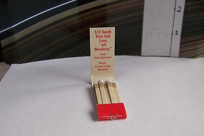 Rare Vintage Matchbook S3 Houston Texas Swiss Chalet Restaurant Post Oak Lane