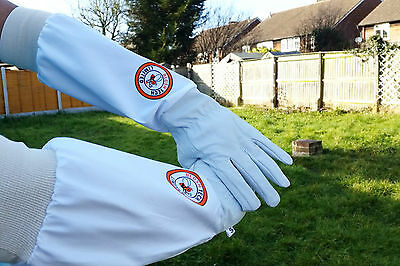 Beekeeper Bee Gloves Beekeeping gloves Goat skin Leather & 100% Cotton LARGE 3