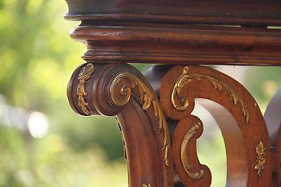 19C Italian Baroque Royal Palace Carved Gilded Oak Serpentine Hand Rail 6