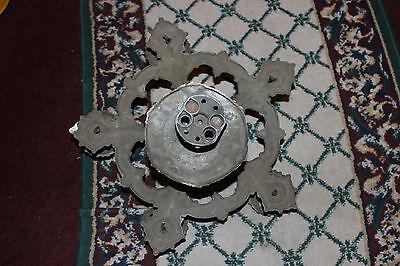 Antique Victorian Art Deco Ceiling Chandelier Light Fixture-Lion Electric Co. 7 • CAD $254.04