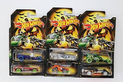 Hot Wheels Halloween 2019 Edition Set Of 6 Cars In Stock Now! Holiday Series 5