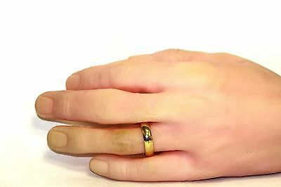 6 Of 7 New 10k Yellow Gold Mens Wedding Band 4 7g Ring 5mm Vintage Estate Fashion Gents
