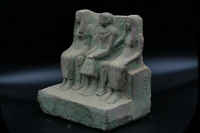 Unique EGYPTIAN ANTIQUE Priest Ptahmai Family Stela Relief Vintage made in egypt 2