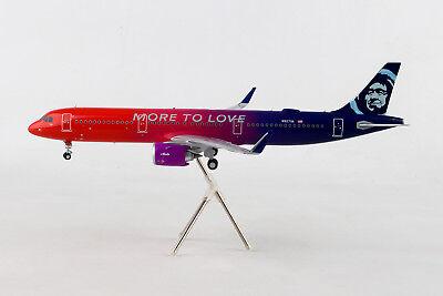 "Gemini200 ALASKA Airbus A321neo ""More To Love"" G2ASA739 1/200, REG#N927VA. New"