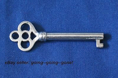 ANTIQUE HOLLOW BARREL KEY ROLL TOP DESK CABINET DRAWER KEY EARLY 1900's NICE 84B 2