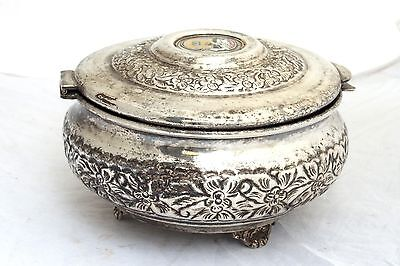 Vintage Arabian Military Silver Plated Box Code of Arms Soldier Army Islamic 5