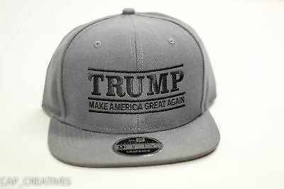 ... Make America Great Again- Donald Trump Hat 2020-US NEW ERA Snapback  Charcoal Cap 16568bf1ae5c