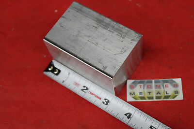 """2 Pieces 2""""x 2"""" ALUMINUM SQUARE 6061 3"""" long FLAT BAR SOLID T6511 New Mill Stock 2"""