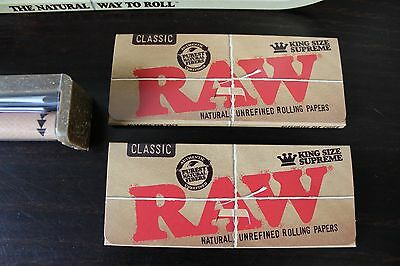 Raw Rolling Tray Combo~Raw 110mm Roller~Raw King Size Rolling Papers~Raw Tray 2