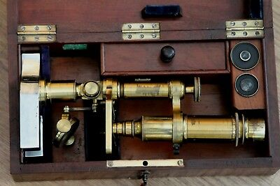 Brass Compound Microscope, Ca. 1875,
