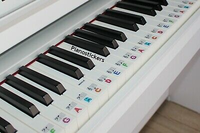 Stickers for 61 key Piano or Keyboard 36 white key kids monster clear stickers 3