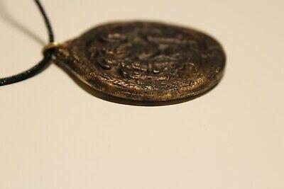 Post Medieval Beautiful Men's Bronze Large 38Mm Christian Orthodox Pendant 5