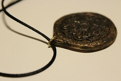 Post Medieval Beautiful Men's Bronze Large 38Mm Christian Orthodox Pendant 6