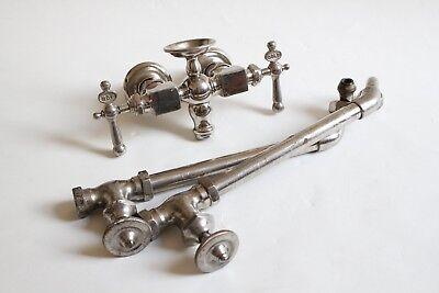 antique faucet tub filler sink shut off valves   vtg mixing faucet victorian 11