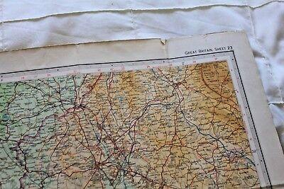 1910-1941 Antique Bartholomew's half inch map - GB sheet 23 N. Shropshire 7