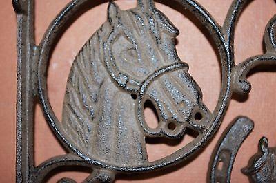 (5) Vintage-Look Horse Horseshoe Cast Iron Decor, Shelf Bracket, Wall Hook,brown 4