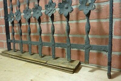 Antique Cast Iron Curly Top Flowers Fence Window Gate Old Architectural Hardware 9