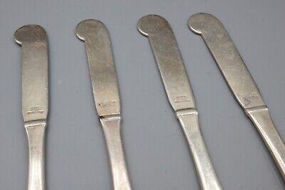 """Hans Hansen Susanne Sterling Silver Butter Spreader Knife – 6 1/8"""" – Set of 4 5"""