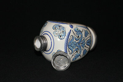 Apothekerkrug Keramikkrug Apothekergefäß mit Zinn Schraubverschluß Ulmer Keramik 8