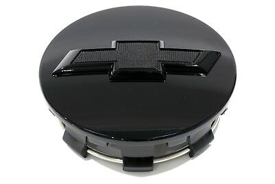 OEM NEW Wheel Hub Center Cap Gloss Black w// Bowtie 15-2020 Chevrolet 23480948