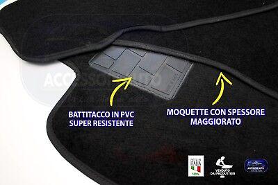 Tappetini Moquette Auto per Nissan Qashqai 2007>2014 Tappeti + bottoni fissaggio 6