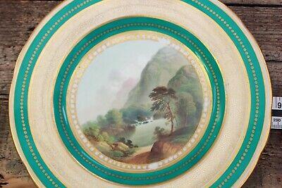 Antique Fine English Porcelain Plate Foot of Snowdon Pat 2399 Circa 1850 7