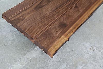 Schreibtischplatte holz  WASCHTISCH TISCHPLATTE PLATTE Nussbaum Massiv Holz mit Baumkante NEU ...