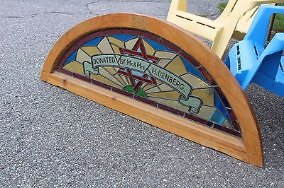 Arched Top Antique Victorian Stained Glass Window Architectural Salvage Church 2