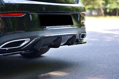 CUP Diffusor SCHWARZ für Mercedes E-Klasse W213 E43 AMG Line Heckansatz Schürze