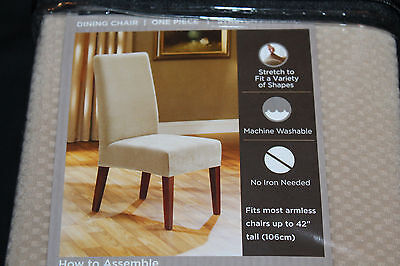 Marvelous Sure Fit Dining Chair Slipcover Stretch Pinpoint Cream New Uwap Interior Chair Design Uwaporg