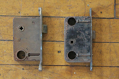 2 Antique Brass Mortise Locks 7022 3