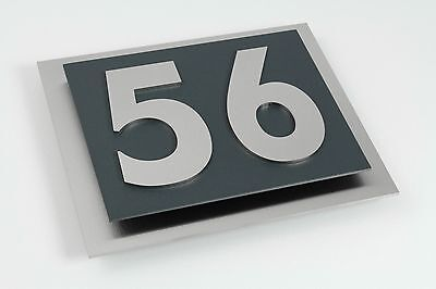Hausnummer Anthrazit hausnummer edelstahl anthrazit ral 7016 hausnummernschild türschild