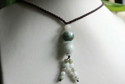 "Gemstone 100% Natural ""Grade A"" Jadeite JADE Handmade Beaded Necklace #305 2"
