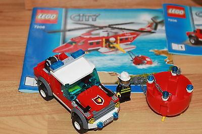 Lego City Großes Feuerwehr Flugzeug Auto Figuren Mit Anleitung