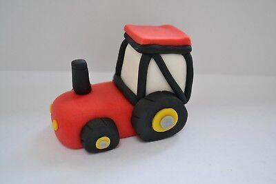 Cake Topper birthday decorating set Farm Animals Handmade Edible Tractor